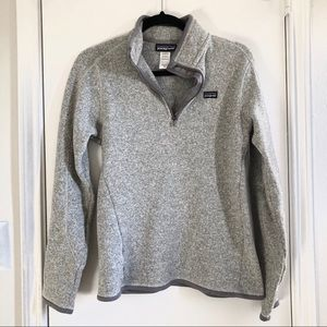 Patagonia grey better sweater quarter zip